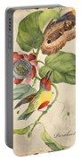 Vintage Bird Study-b Portable Battery Charger