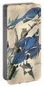Vintage Bird Study-f Portable Battery Charger