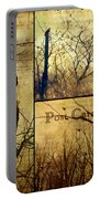 Vintage Birds Collage Portable Battery Charger