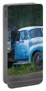 Vintage Blue Chevrolet Pickup Truck Portable Battery Charger