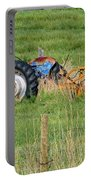 Vintage Blue Tractor Portable Battery Charger