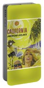 Vintage California Travel Poster Portable Battery Charger