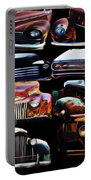 Vintage Cars Collage 2 Portable Battery Charger