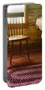 Vintage Chair And Table Portable Battery Charger