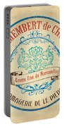 Vintage Cheese Label 4 Portable Battery Charger by Debbie DeWitt