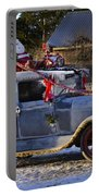 Vintage Christmas Car Portable Battery Charger