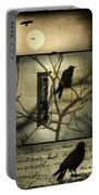 Vintage Crow Art Collage Portable Battery Charger