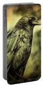 Vintage Crow Portable Battery Charger