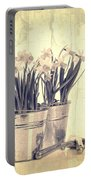 Vintage Daffodils Portable Battery Charger