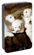 Vintage Festive Puppies Portable Battery Charger