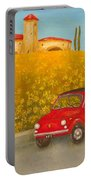 Vintage Fiat 500 Portable Battery Charger