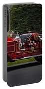 Vintage Firetruck Portable Battery Charger by Susan Candelario