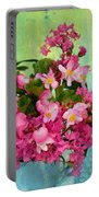 Vintage Floral Portable Battery Charger