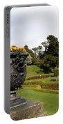 Vintage Flowerpots And Garden View - Powerscourt Garden Portable Battery Charger