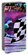 Vintage Formula 1 Race Checkered Flag  Portable Battery Charger