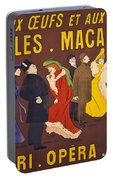 Vintage French Paris Opera Pasta Poster Portable Battery Charger