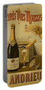 Vintage French Poster Andrieux Wine Portable Battery Charger