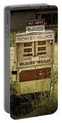 Vintage Gas Pump At An Abandoned Filling Station Portable Battery Charger