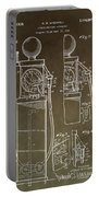 Vintage Gas Pump Patent Portable Battery Charger