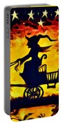 Vintage Halloween Scene Portable Battery Charger