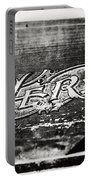 Vintage Hero Sign In Black And White  Portable Battery Charger