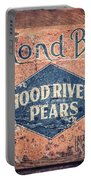 Vintage Hood River Pear Crate Portable Battery Charger