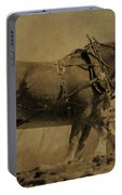 Vintage Horse Plow Portable Battery Charger