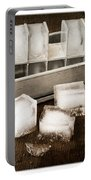 Vintage Ice Cubes Portable Battery Charger by Edward Fielding
