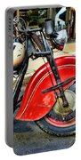 Vintage Indian Motorcycle - Live To Ride Portable Battery Charger