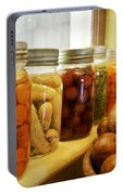 Vintage Jars On A Kitchen Window Portable Battery Charger