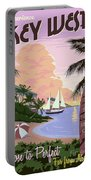 Vintage Key West Travel Poster Portable Battery Charger