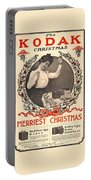 Vintage Kodak Christmas Card Portable Battery Charger