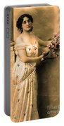 Vintage Lady I  Portable Battery Charger