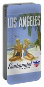 Vintage Los Angeles Travel Poster Portable Battery Charger