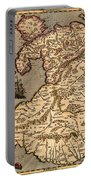 Vintage Map Of Wales 1633 Portable Battery Charger