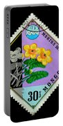 Medicinal Plants - Vintage Mongolia Stamp Portable Battery Charger
