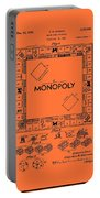 Vintage Monopoly Game Patent Portable Battery Charger