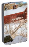 Vintage New England Barn Portrait Square Portable Battery Charger