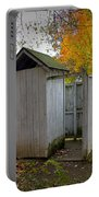 Vintage Outhouse Alongside A Historical Country School In Southwest Michigan Portable Battery Charger