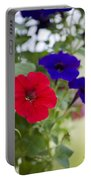 Vintage Petunia Flowers Portable Battery Charger