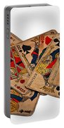 Vintage Playing Cards Art Prints Portable Battery Charger