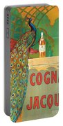 Vintage Poster Advertising Cognac Portable Battery Charger by Camille Bouchet