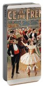 Vintage Poster Fanny Rice At The French Ball Portable Battery Charger