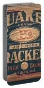 Vintage Quaker Crackers For The Kitchen Portable Battery Charger by Lisa Russo