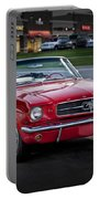 Vintage Red 1966 Ford Mustang V8 Convertible  E48 Portable Battery Charger