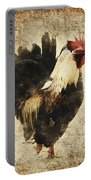 Vintage Rooster Portable Battery Charger