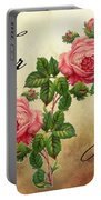 Vintage Roses For You Portable Battery Charger