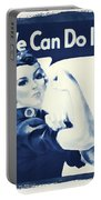 Vintage Rosie The Riveter Portable Battery Charger by Dan Sproul