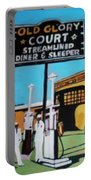 Vintage Route 66 Diner Sleeper Portable Battery Charger