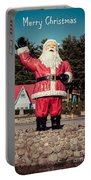 Vintage Santa Claus Christmas Card Portable Battery Charger by Edward Fielding
